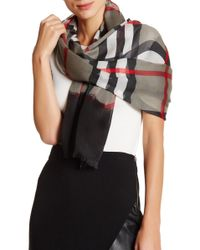 Blue Pacific - Oversized Cashmere Blend Plaid Scarf - Lyst