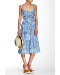 Porridge - Printed Button Front Dress - Lyst