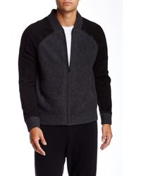 Quinn - Oliver Genuine Lambskin Suede & Cashmere Bomber Jacket - Lyst
