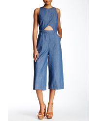Do+Be Collection - Denim Peephole Culotte Jumpsuit - Lyst