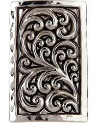 Lois Hill | Sterling Silver Repousse Rectangular Cocktail Ring - Size 7 | Lyst