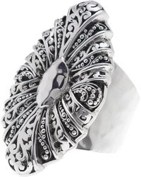 Lois Hill | Sterling Silver Handcrafted Scroll Oval Shield Ring - Size 7 | Lyst