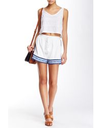 Romeo and Juliet Couture - Embroidered Short - Lyst