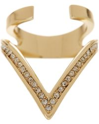 Ariella Collection - Large V Ring - Lyst