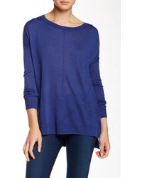 Valette - Stepped Hem Scoop Neck Pullover - Lyst