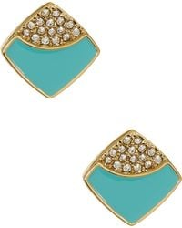 Ariella Collection - Square Stud Earrings - Lyst
