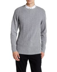 Autumn Cashmere - Micro Braided Stitch Crew Neck Sweater - Lyst