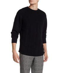 Autumn Cashmere - Micro Braided Stitch Crew Neck Sweater - Lyst