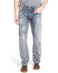 Rock Revival - 'feeney' Straight Leg Jeans (light Blue) - Lyst