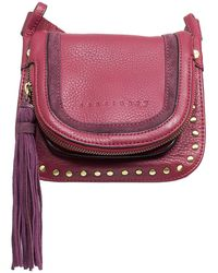 Sanctuary - Leather Studded Lux Bohemian Saddle Crossbody - Lyst