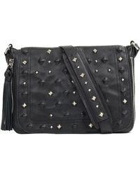 Sanctuary - Rockstar Studded Leather Crossbody Bag - Lyst