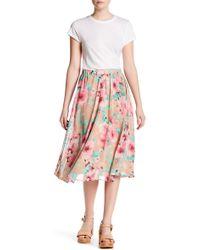 Peach Love California - Floral Print Skirt - Lyst