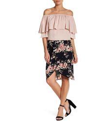West Kei - Floral Print Tulip Skirt - Lyst