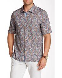 Nat Nast - Kandinsky Short Sleeve Regular Fit Silk Shirt - Lyst