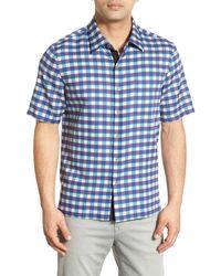 Nat Nast - 'catador' Regular Fit Check Silk & Cotton Sport Shirt - Lyst