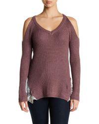 Madison & Berkeley - Cold Shoulder V-neck Jumper - Lyst