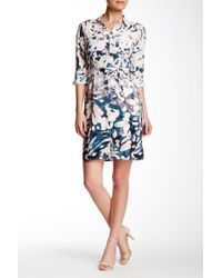 NYDJ - Kelsie Floral Print Shirt Dress - Lyst