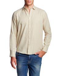 Singer + Sargent - Long Sleeve Windowpane Chequered Regular Fit Shirt - Lyst