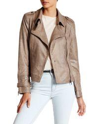 Blanc and Noir - Faux Suede Asymmetrical Zip Jacket - Lyst
