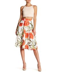 Ark & Co. - Floral Print Organza Skirt - Lyst