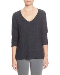 Gibson - 'yummy Fleece' High/low V-neck Pullover - Lyst