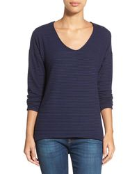 Gibson - 'yummy Fleece' High/low V-neck Pullover (petite) - Lyst