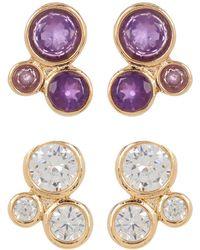 Melinda Maria - Jasmine Cluster Stud Earrings Set - Lyst