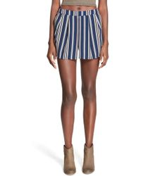 Blu Pepper - Stripe Shorts (juniors) - Lyst
