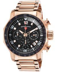 Swiss Legend - Men's Blue Geneve Chronograph Sport Bracelet Watch - Lyst