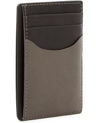 Skagen - Vertical Leather Card Case - Lyst