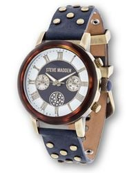 Steve Madden | Women's Studded Leather Strap Watch | Lyst