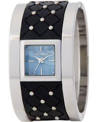 Steve Madden - Women's Studded Leather Cuff Watch - Lyst