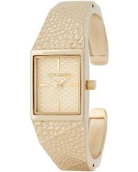 Steve Madden - Women's Alloy Bracelet Watch - Lyst