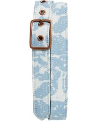 Caputo & Co. - Bleached Denim Belt - Lyst