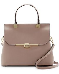 Luisa Vannini - Boxy Leather Satchel - Lyst