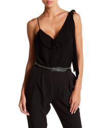 StyleStalker - Anja Drape Bodysuit - Lyst