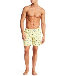 Franks - Pineapple Print Mid Length Swim Trunk - Lyst