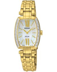 Seiko - Women's Tressia Solar Diamond Watch - 0.09 Ctw - Lyst