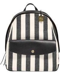 Skagen - 'aften' Stripe Canvas Backpack - Lyst