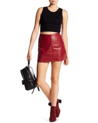 Jolt - Faux Leather Mini Skirt - Lyst