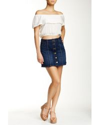Jolt - Seamed Denim Mini Skirt - Lyst