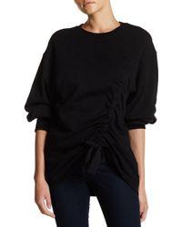 Soprano - Front Cinch 3/4 Length Sleeve Sweatshirt - Lyst