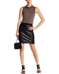 Thacker NYC - Quinn Faux Leather Skirt - Lyst