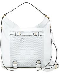 She + Lo - Silver Lining Leather Hobo - Lyst