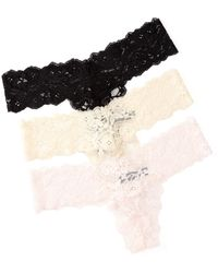 Steve Madden - Galloon Lace Thong - Pack Of 3 - Lyst