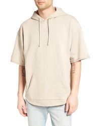 The Rail - Zip Detail Short Sleeve Hoodie - Lyst
