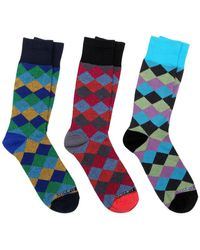 Unsimply Stitched - Combo Socks - Pack Of 3 - Lyst