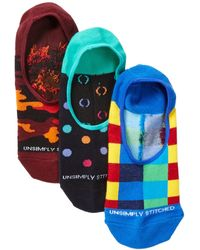 Unsimply Stitched - Combo No Show Socks - Pack Of 3 - Lyst