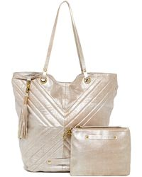 Cynthia Vincent - Eden Shimmery Leather Tote & Pouch - Lyst