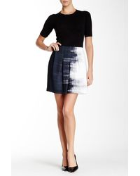 Vince - Dry Brush Print Skirt - Lyst